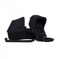 Duet Single Carrycot Set - Black