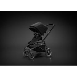 Sleek stroller black on black