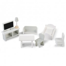 Doll house and furniture set