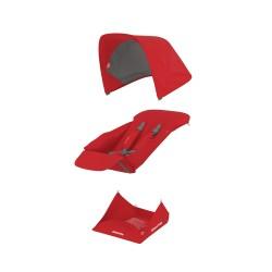 Pööratava istumisosa kangakomplekt - punane