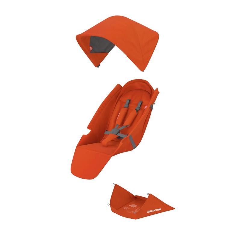 Klassikaline kangakomplekt - oranž