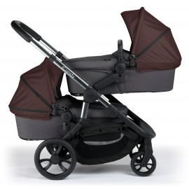 Orange Twin Stroller-autumn