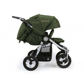 2018 Indie Twin Stroller-camp-green